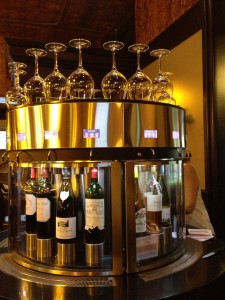 Self service wine bar in Sarlat