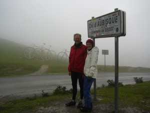 Kalima and Bill on a soggy summit