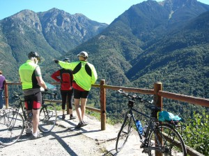 That's Spain, which we reached via the Col du Portillon