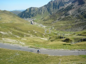 John on last switchback before summit of Tourmalet